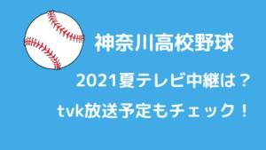 神奈川高校野球2021夏テレビ中継は?tvk放送予定もチェック!