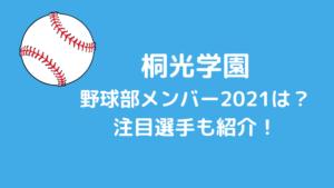 桐光学園野球部メンバー2021&注目選手は?打倒東海大相模で夏こそは優勝!